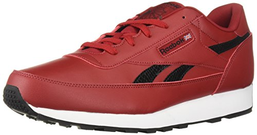 Reebok Men's Classic Renaissance Walking Shoe, USA-Flash red/Black/White, 10 M US