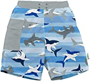 i play. by green sprouts Swim Trunks with Built-in Reusable Swim Diaper | Baby Boy Swimsuit | Lightweight, Pat
