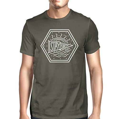 corta Talla de Printing hombre para manga 365 Camiseta xZIqwzq8