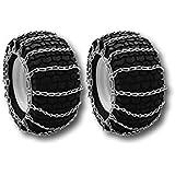 MowerPartsGroup Pair of Snow Mud Tire Chains 2-Link 15x6.00-6