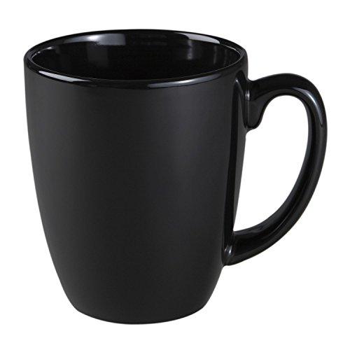 Corelle Livingware 11-Oz Black Stoneware Mug (Set of 8) by Corelle Coordinates