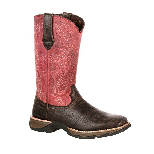 Lady Rebel by Durango Womens 11 Gator Embossed Lt Western Boot-DRD0147 12ehZd