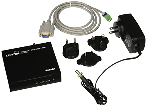 Leviton 41910-HTR HDMI Extender with HDBaseT, Receiver Only, 70 (Htr Box)