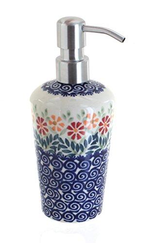 Manufaktura Blue Rose Polish Pottery Garden Bouquet Soap Dispenser ()