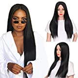 Pre Plucked Lace Front Wigs with Baby Hair Glueless Straight Human Hair Wigs for Black Women 10-24 Inch Peruvian Hair Wigs 130 Density Natural Color (22 inch)