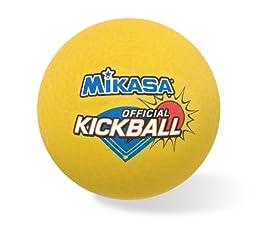 Mikasa Kick Ball (Yellow, 8.5-Inch)