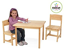 KidKraft  Aspen Table and Chair Set - Natural