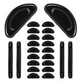 Eyeglass Nose Pads Silicone Soft Seft Adhesive Thin Anti-Slip Nosepads for Eyeglasses Glasses Sunglasses (Black)