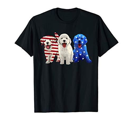 Golden Retriever American flag USA Dog Patriotic Gift Shirt
