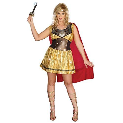 Dreamgirl Women's Plus-Size Golden Gladiator Dress, Gold/Brown, 1X/2X ()