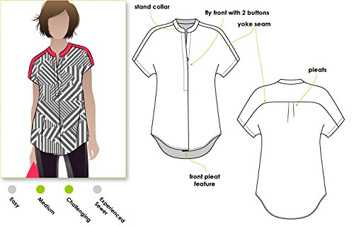 Style Sewing Pattern (Style Arc Sewing Pattern - Maggie Shirt (Sizes 18-30) - Click for Other Sizes)