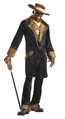Pimp Costume (California Costumes Men's Supa Mac Daddy Costume,Black,Large)