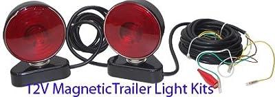 12V Magnetic Magnet Trailer Truck Light Towing Kit