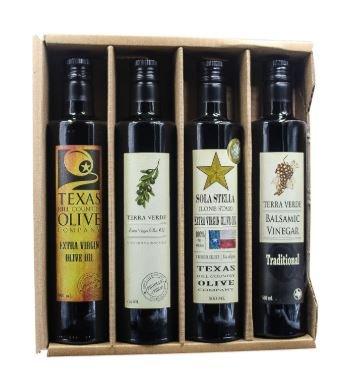 The Stars Above Texas Premium Olive Oil and Balsamic Vinegar Kraft Gift Set