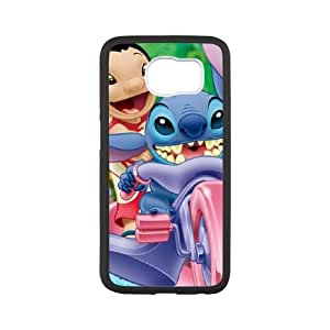 Samsung Galaxy S6 phone case Black Disneys Lilo and Stitch KJUU2834473