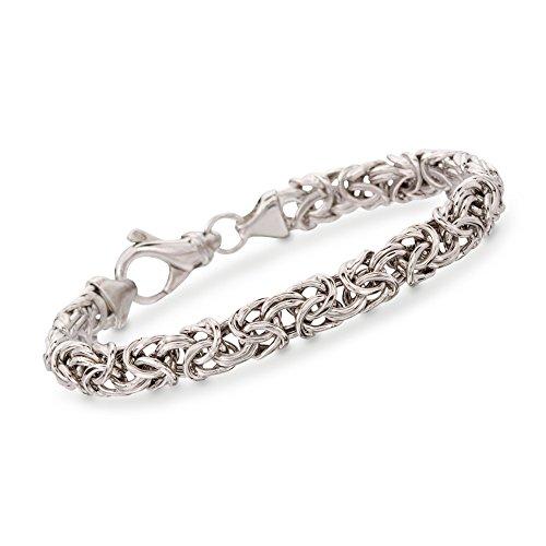 RossSimons Sterling Silver Small Byzantine Bracelet