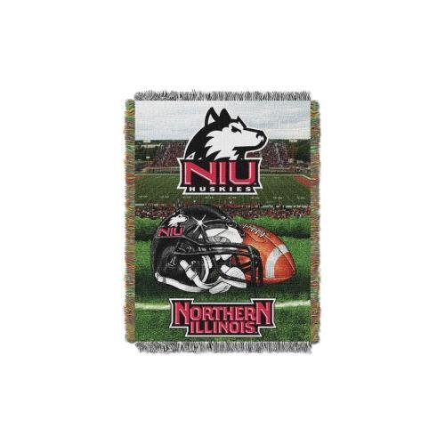 Huskies Acrylic Tapestry Throw (Northwest Tapestry NCAA Team Northern Illinois Throw Blanket)