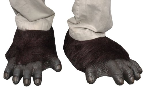 Zagone Gorilla Feet,  Black Faux Fur, Black Latex Toes/Feet -
