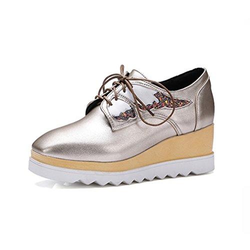 Casuel 5 5 Or Bloc Chaussure à Talon Femme Mode Derbies JRenok CM Paillette Basket xfZXwA