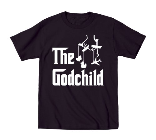 The God Child Italian Mafia Gangster Movie Toddler Shirt 2T Black (Mafia Toddler T-shirt)