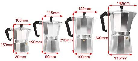 Cafetera Moka express de aluminio, Cafetera Espresso ...