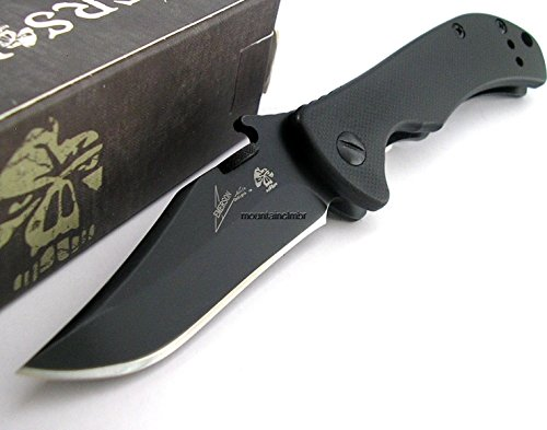 Muktat_ Kershaw Emerson CQC-2K Tactical Folding Knife Clip Point G10 Handle 6024BLK
