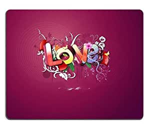 Abstract Beautiful Love Graffiti Romance Mouse Pads Customized Made to Order Support Ready 9 7/8 Inch (250mm) X 7 7/8 Inch (200mm) X 1/16 Inch (2mm) High Quality Eco Friendly Cloth with Neoprene Rubber Liil Mouse Pad Desktop Mousepad Laptop Mousepads Comfortable Computer Mouse Mat Cute Gaming Mouse_pad by runtopwell