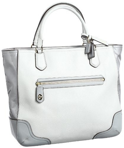 Coach Poppy Colorblock Leather Small Blaire Tote (Light Grey) by Coach