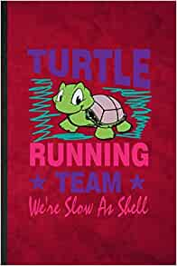 Turtle Running Team Slow As Shell Wood Christmas Tree Holiday Ornament