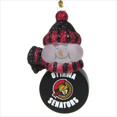 SC Sports Ottawa Senators Light-Up Snowman Puck Ornament 3-Pack - Ottawa Senators Set of 3
