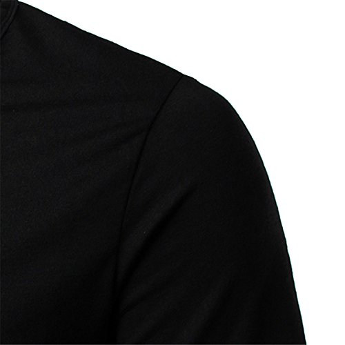 Herren Freizeit Solid Color V-Ausschnitt T-Shirts 3XL T-Shirts (XXL, schwarz)