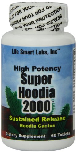 2000 MG Super Hoodia Time Release Appetite Suppressant 100% pure Hoodia Gordinii diet pills, 2000mg per 2 cap. serving