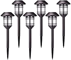 Azirier Solar Lights Outdoor Waterproof Outdoor Garden Lights, Solar Pathway Security Lights for OutdoorWall Backyard...