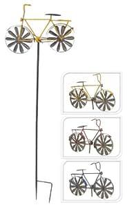 Jardín Conector Wind Cilindro de molino de viento bicicleta–h110cm, amarillo