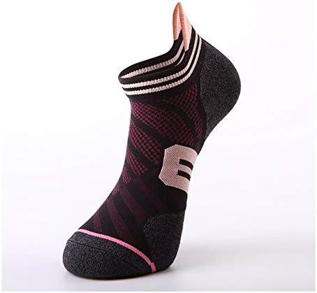 スポーツソックス 靴下 大人のバスケットボールのソックスおよびスクワットのバスケットボールのソックスの学校の訓練のソックスの短い管の動き (Color : Black pink, Size : One size)