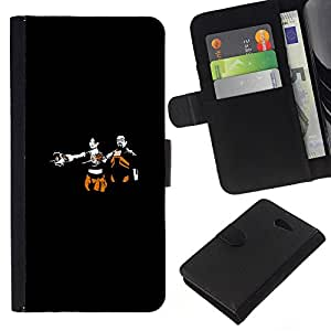 Sony Xperia M2 - Dibujo PU billetera de cuero Funda Case Caso de la piel de la bolsa protectora Para (Hl Gaming - Half L1Fe)