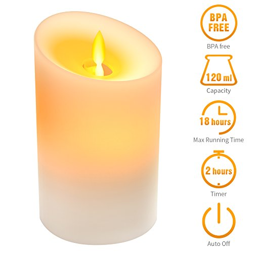 - KKUP2U Essential Oil Diffuser Auto Shut Small 120ML 18 Hours Scented Candle Light LED Two Modes, Ultrasonic Aromatherapy Diffusers Humidifier for Bathroom Bedroom Spa Yoga by