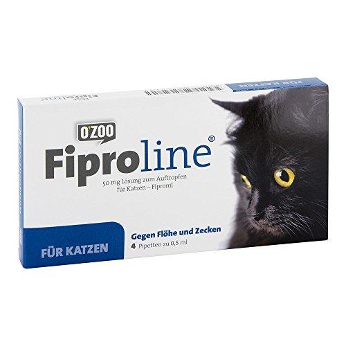 FIPROLINE 50 mg Lsg.z.Auftropf.f.Katzen 4 St Lösung
