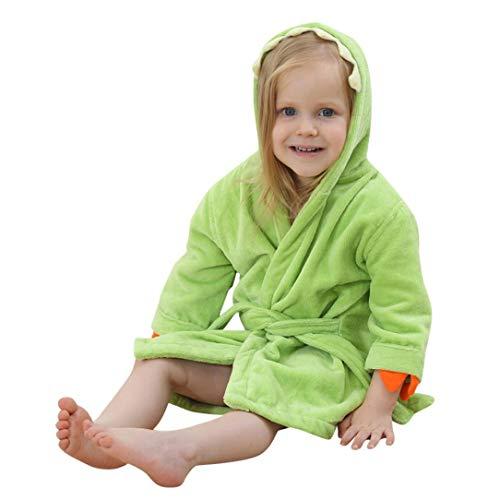 Teddy Robe Bath Bear (Outtop(TM) Toddler Kids Baby Girls Boys Cotton Cartoon 3D Dinosaur Bathrobe Hooded Towel Pajamas Clothes (5T(2~5years), Green))