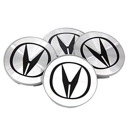 Guzetop 4Pcs Aluminum Wheel Center Caps Compatible with Acura 69MM Rim Emblem Logo Cap