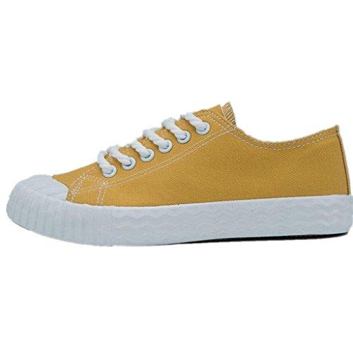 Da Ogni Movimento Studenti Di Giorno Lemon Libertà Semplice Colori Tela Nvxie Permeabilità Comode Yellow Scarpe Quattro Lady wIqSWPU