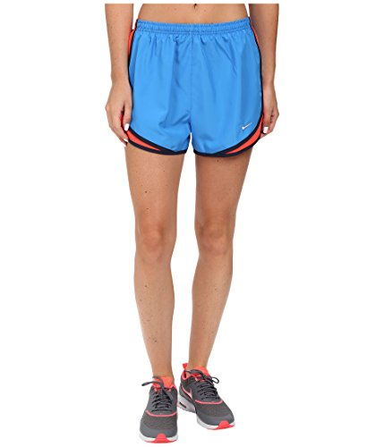 Nike Women's Tempo Short, Light Photo Blue/Bright Crimson/Wolf Grey SM X 3.5 ()