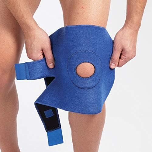 LP Support 758 Kniebandage - Kniegelenkstütze - Knieschoner - Knieschutz - Kniestütze - Sportbandage, Größe:Universalgröße, Farbe:1 Paar blau