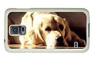 Hipster good Samsung Galaxy S5 Cases golden labrador PC White for Samsung S5