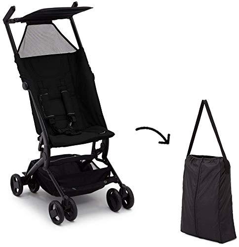The Clutch Stroller by Delta Children - Lightweight Compact Folding Stroller - Includes Travel Bag - Fits Airplane Overhead Storage - Black by Delta Children (Image #8)