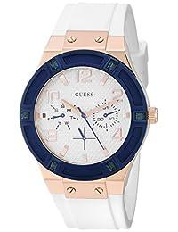 Guess Women's U0564L1 White Silicone Quartz Watch