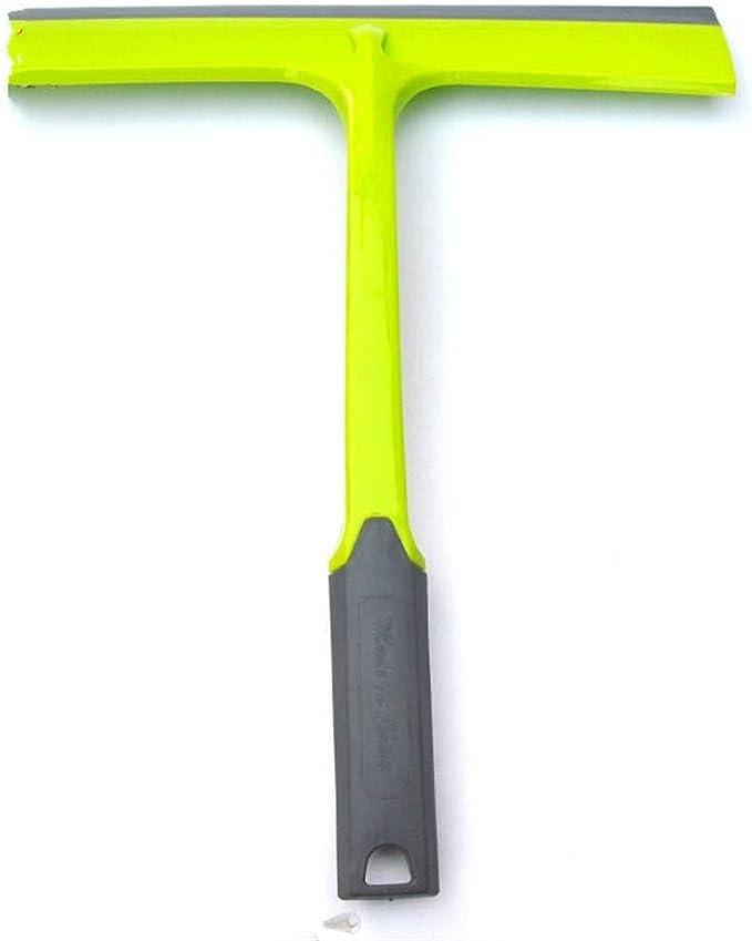 Limpiador de vidrio 2pcs herramienta de limpieza for la casa de cristal del cepillo de la escobilla de limpiaparabrisas de cristal cepillo raspador rascador Seca los pisos rápidamente sin manchas de a: