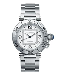 Cartier Men's W31080M7 Pasha Seatimer Automatic Stainless Steel Watch