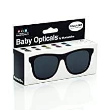 Mustachifier Baby Opticals Polarized Sunglasses, Black , Ages 0-2