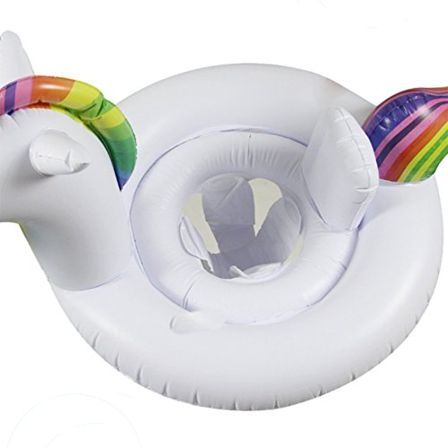 Amazon.com: ED-Lumos White Unicorn Inflatable Baby Float Seat Boat Swim Ring for Kids Summer Toys: Toys & Games